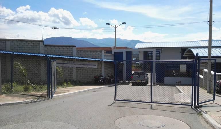 Entrada a la cárcel modelo de Cúcuta