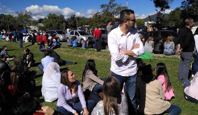 Movimientos sismicos: Evacuan edificios en el occidente de Bogotá