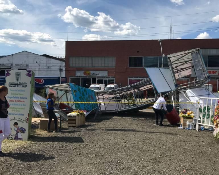 accidente, Feria de Flores, Medellin, cuidad del río, sur, heridos: Dos lesionados dejó un accidente en evento de la Feria de las Flores
