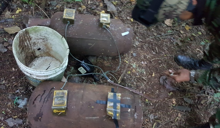 Deposito ilegal del Eln: Ejército decomisa explosivos a Eln en La Guajira