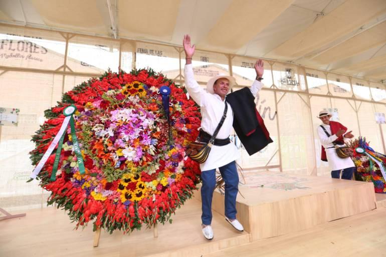 Ganador desfile de silleteros: El apasionado sembrador de flores que se coronó rey de los silleteros