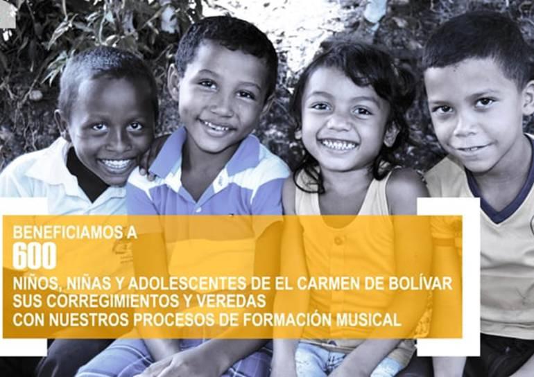 Escuela de música Lucho Bermúdez beneficia a 600 niños en El Carmen