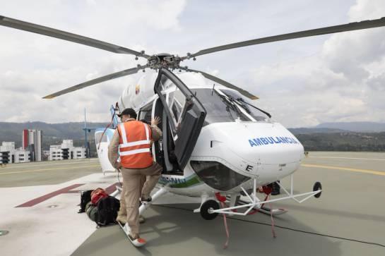 Nuevo helicóptero medicalizado en Santander: En Santander opera el primer helicóptero medicalizado del país