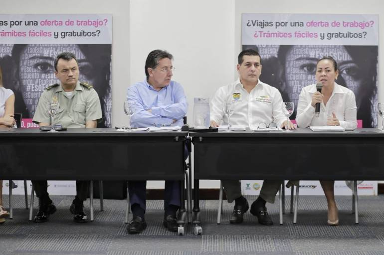 Fiscal y autoridades se reunieron contra la explotación sexual en Cartagena