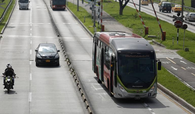 Transmilenio: Llegan los primeros buses de Transmilenio con sillas laterales