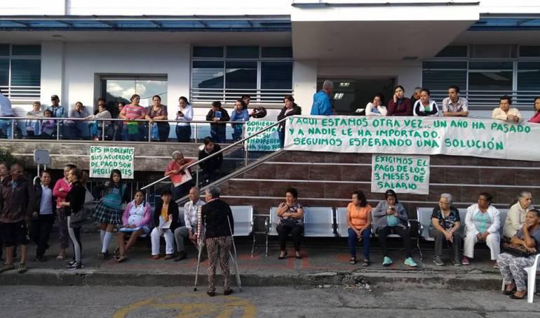 Trabajadores del Hospital La Misericordia de Calarcá les adeudan tres meses de salario