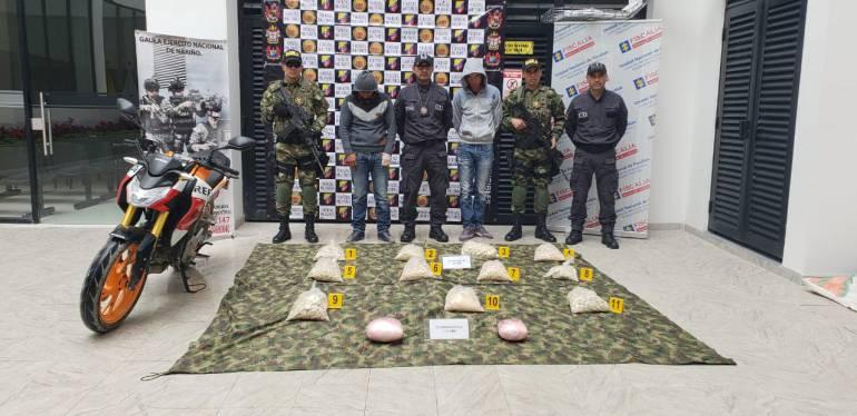 Narcotráfico: Capturan con droga a presuntos miembros del ELN en Nariño