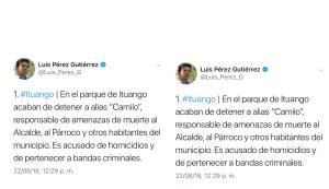 Capturan a supuesto responsable de amenazas al alcalde de Ituango