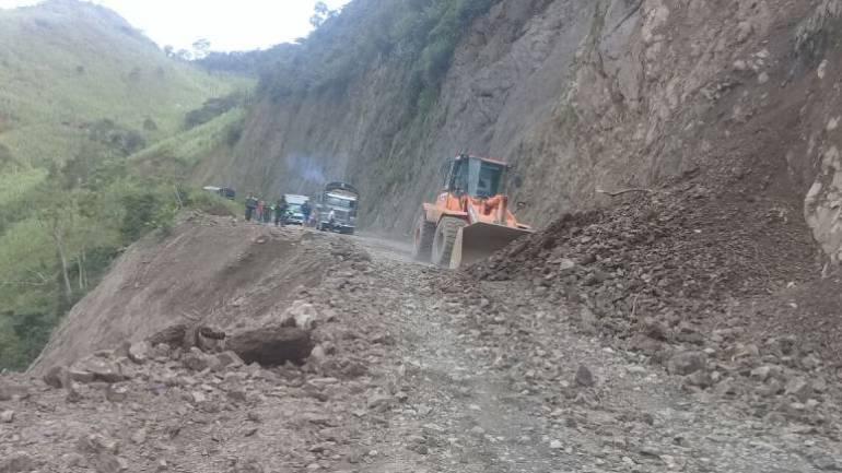 17 veredas del municipio de Santuario están incomunicadas por un derrumbe
