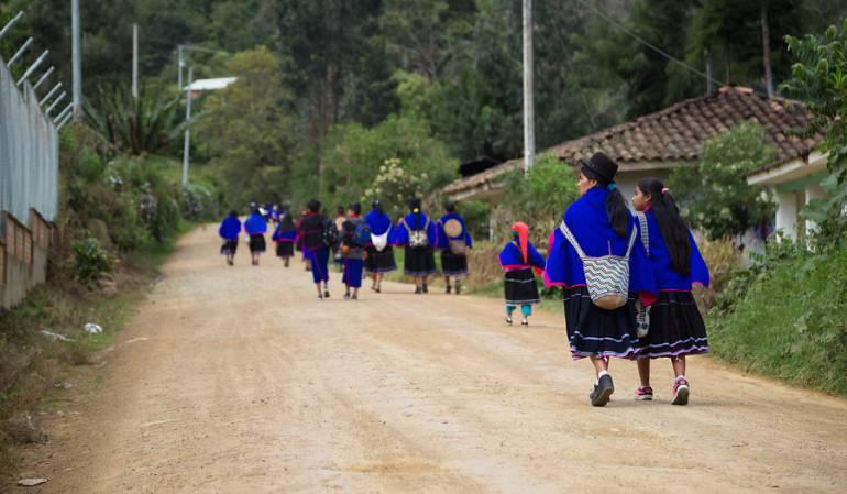 Marcha Indígena: Comunidades indígenas Misak marcharan hoy a Popayán