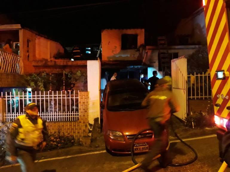 Familia caldense murió en incendio en Floridablanca (Santander)