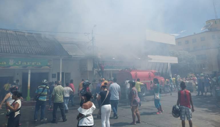 Incendio en el Espinal, Tolima.
