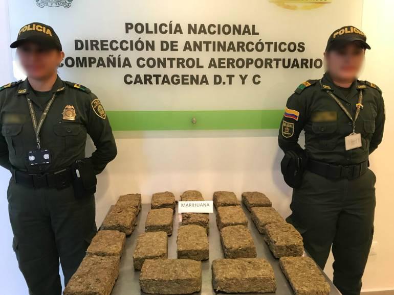 Pretendían enviar en avión ocultos en un refrigerador 19 kilos de marihuana: Pretendían enviar en avión ocultos en un refrigerador 19 kilos de marihuana