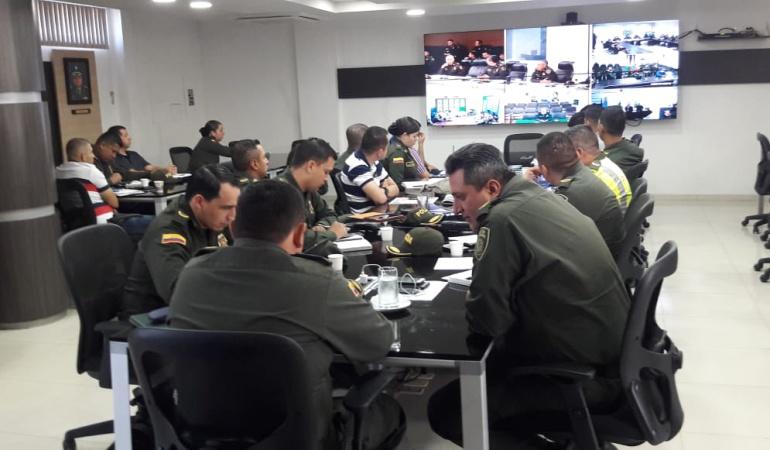 PMU en el comando de la Metropolitana