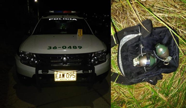 Patrulla impactada en ataque y granadas incautadas a los agresores en Ocaña