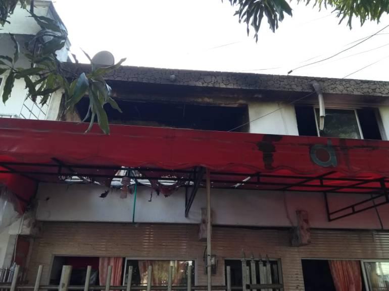 Incendio destruyó establecimiento en el sur de Cartagena: Incendio destruyó establecimiento en el sur de Cartagena