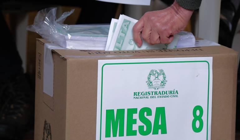 Votación Consulta Anticorrupción.