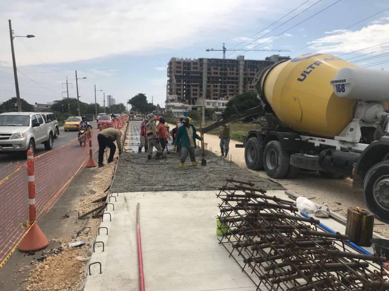 A buen ritmo pavimentación en la entrada a Cartagena por la Cordialidad: A buen ritmo pavimentación en la entrada a Cartagena por la Cordialidad