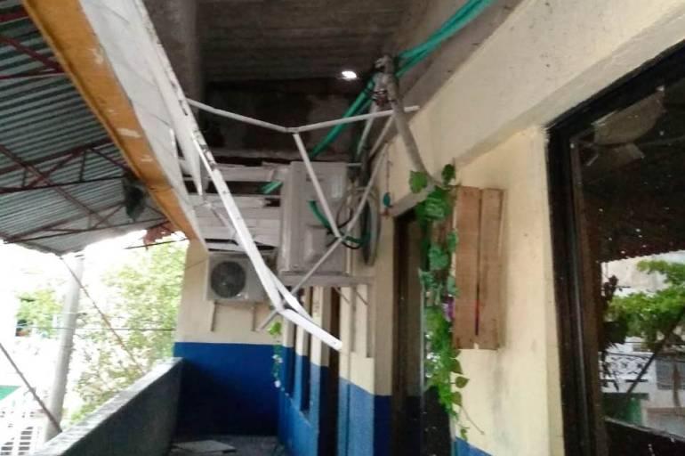 Lluvias causan destrozos en colegio en el sur de Cartagena: Lluvias causan destrozos en colegio en el sur de Cartagena