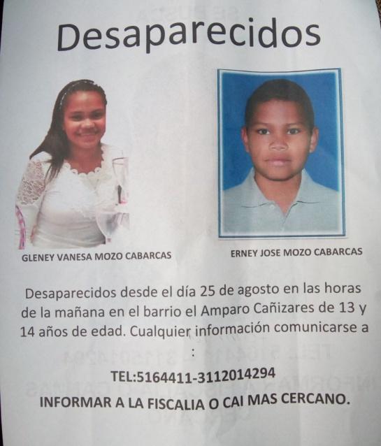 Desaparición menores Bogotá: Reportan desaparición de dos menores de edad en el sur de Bogotá