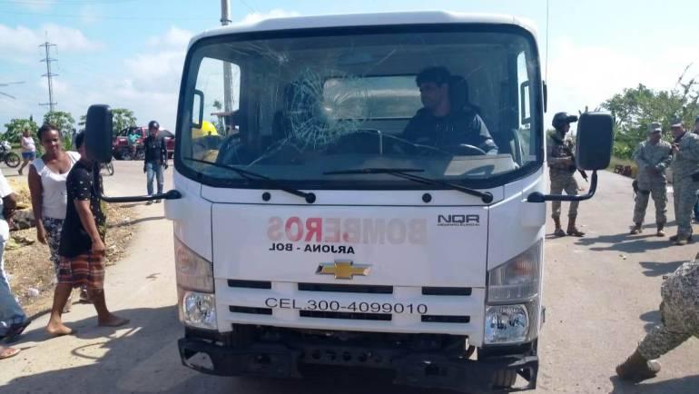 Disturbios en Gambote Bolívar por inicio de obras del Fondo Adaptación: Disturbios en Gambote Bolívar por inicio de obras del Fondo Adaptación