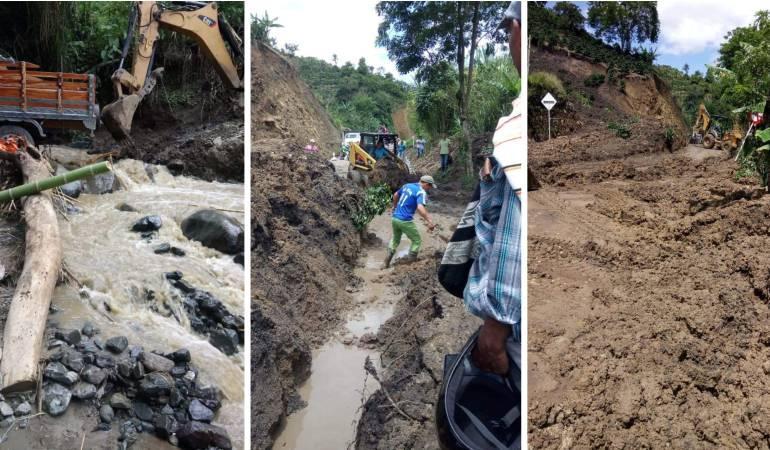 Autoridades de Risaralda en alerta por deslizamientos en vías