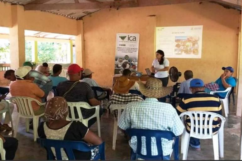 ICA realizó jornada de Buenas Prácticas Acuícolas con campesinos de Bolívar: ICA realizó jornada de Buenas Prácticas Acuícolas con campesinos de Bolívar