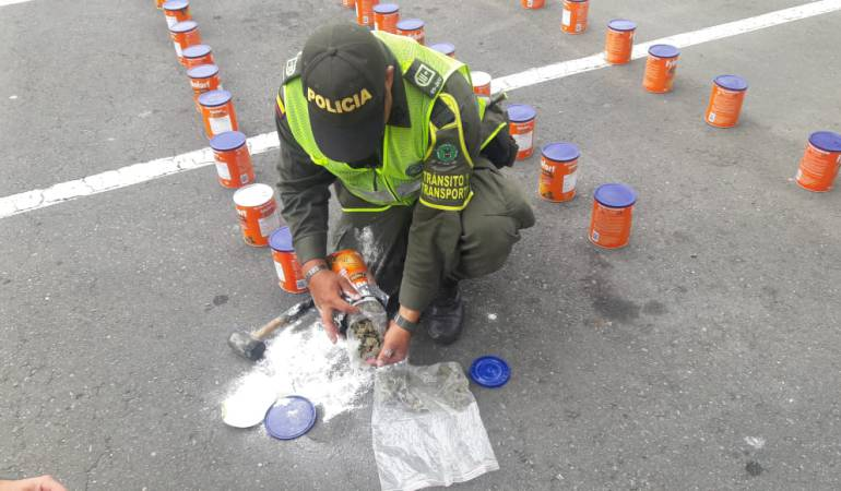 Marihuana: Policía incauta 225 kilos de marihuana enlatada