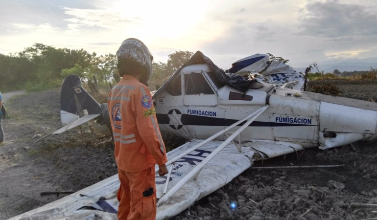 Avioneta accidentada en Tolima