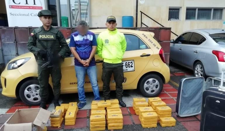 Capturas, cocaina, Eje Cafetero: Policía logra la incautación de 80 kilos de cocaina en un taxi