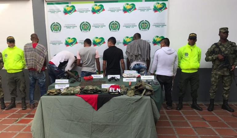 Capturados en el Cauca 6 presuntos integrantes del ELN