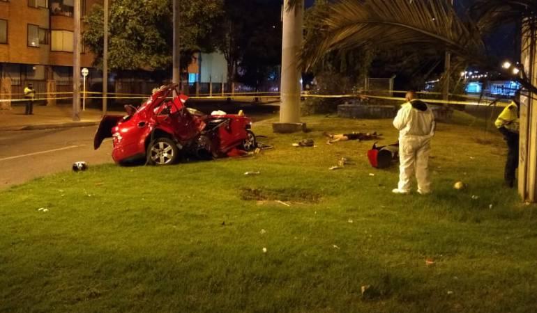 Aparatoso accidente en el norte de Bogotá deja tres muertos
