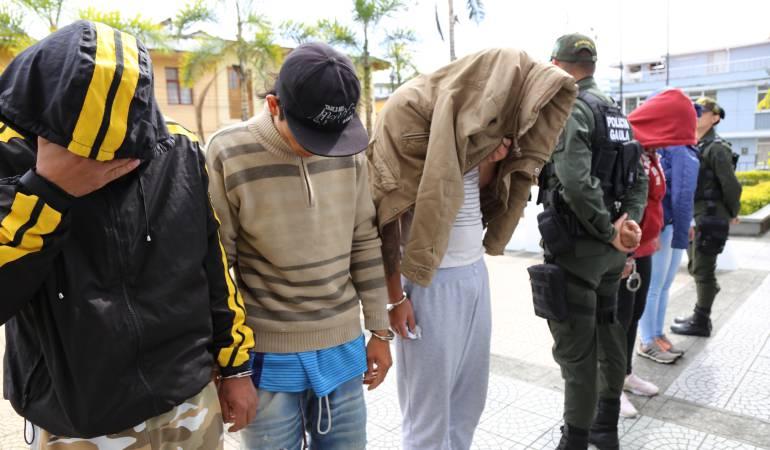 """Presuntos integrantes de la organización delincuencial """"Los del Eje"""""""