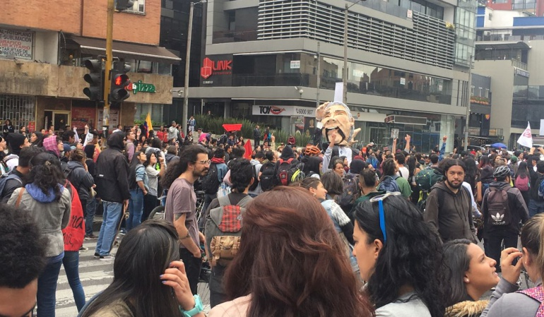 Movilización de estudiantes Bogotá: Estudiantes adelantan movilizaciones en varios puntos de Bogotá