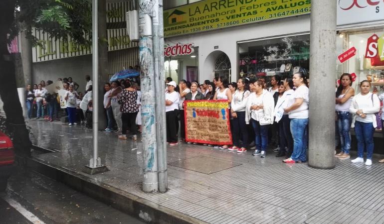 Protesta Madres comunitarias del ICBF en Cúcuta