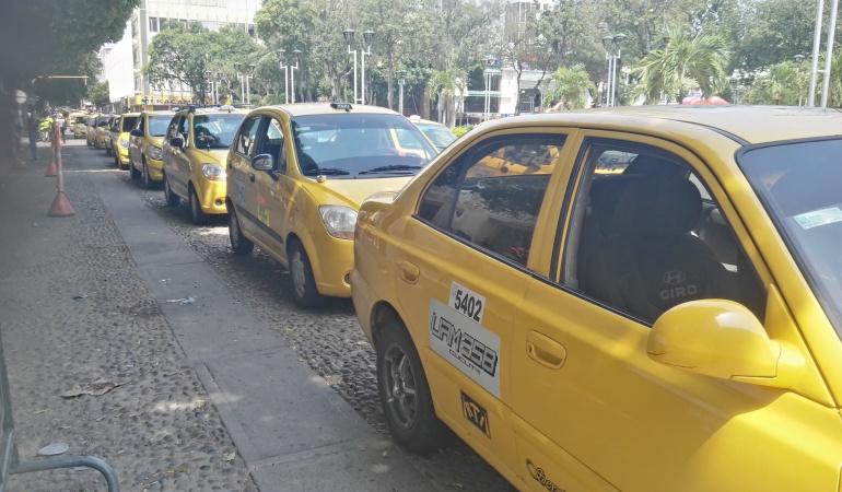 Taxistas en Cúcuta