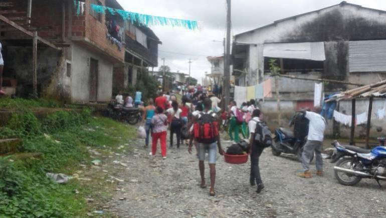 Desplazados en el departamento de Nariño