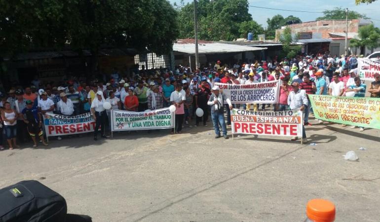 Anterior protesta de arroceros en la vía de Cúcuta al Catatumbo