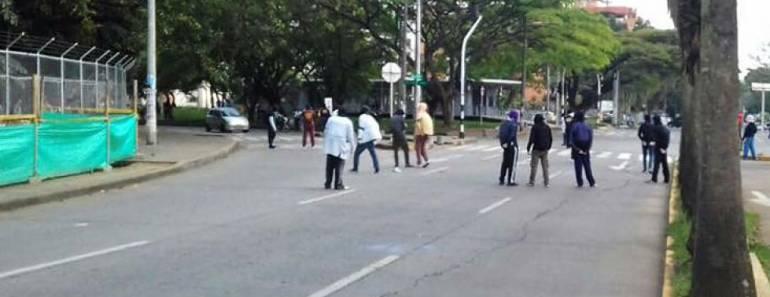Disturbios Univalle: Estudiantes Indígenas frenaron revuelta dentro de la Universidad del Valle.