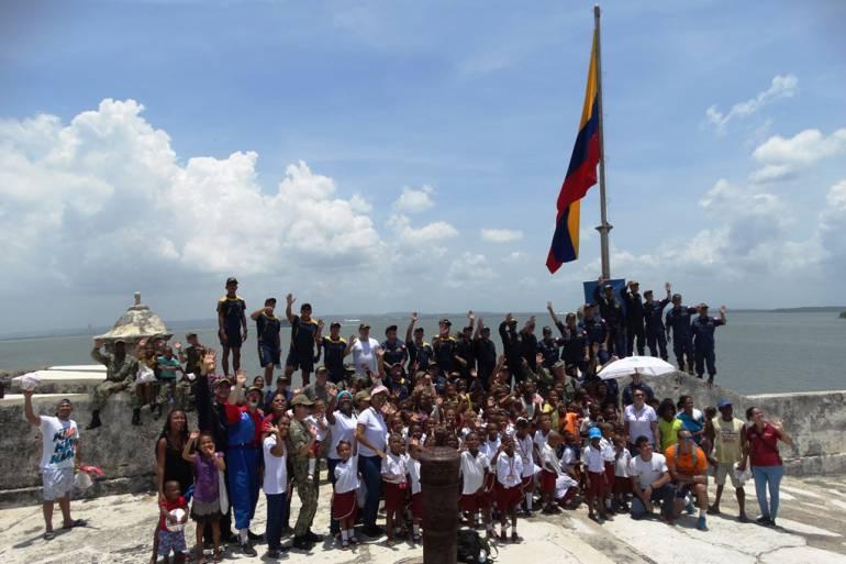 Unitas Cartagena: La operación Unitas llegó a la isla de Tierra Bomba en Cartagena