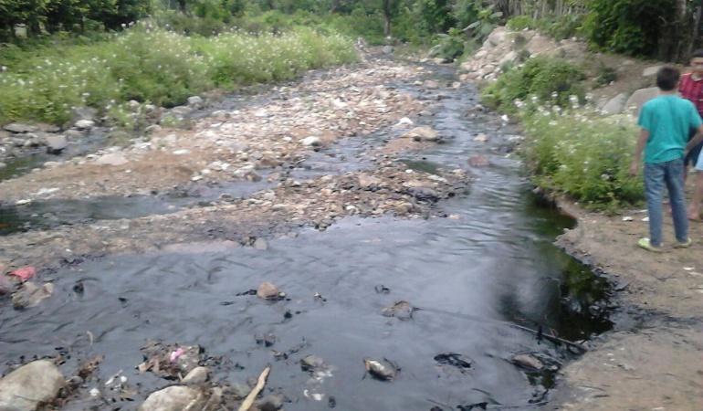 Contaminación de agua en Teorama