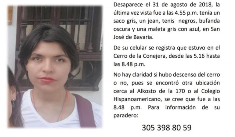 Encuentran muerta a estudiante de UniSabana que estaba desaparecida: Encuentran sin vida a estudiante desaparecida en norte de Bogotá