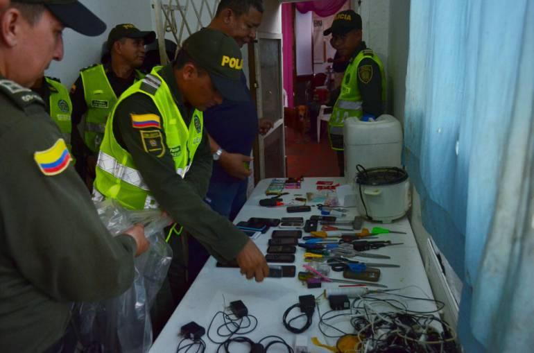 Encuentran celulares, droga y armas en Cárcel de mujeres de Cartagena: Encuentran celulares, droga y armas en Cárcel de mujeres de Cartagena