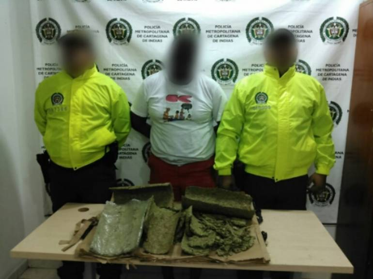 marihuana Cartagena: Policía de Bolívar halla cinco kilos de marihuana en un rollo de papel