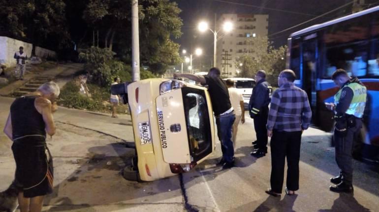 Cuatro heridos dejo aparatoso accidente en Cartagena: Cuatro heridos dejo aparatoso accidente en Cartagena