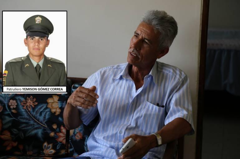 """Familiares del patrullero secuestrado: """"No entendemos por qué Uriel no libera a los secuestrados en el Chocó"""""""