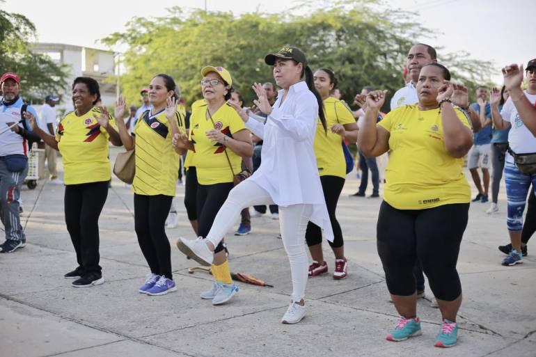 #SeMueveCartagena con Caminante Saludable de la Unidad Deportiva: #SeMueveCartagena con Caminante Saludable de la Unidad Deportiva