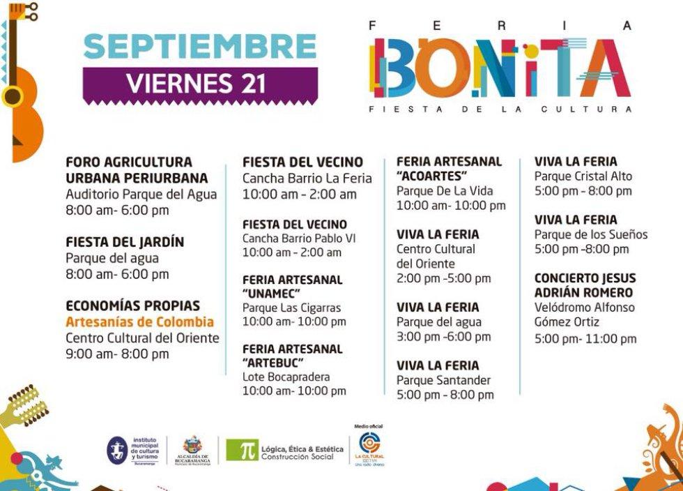 La feria promete música y para ello Jesús Adrián Romero pondrá sabor de cultura al evento.