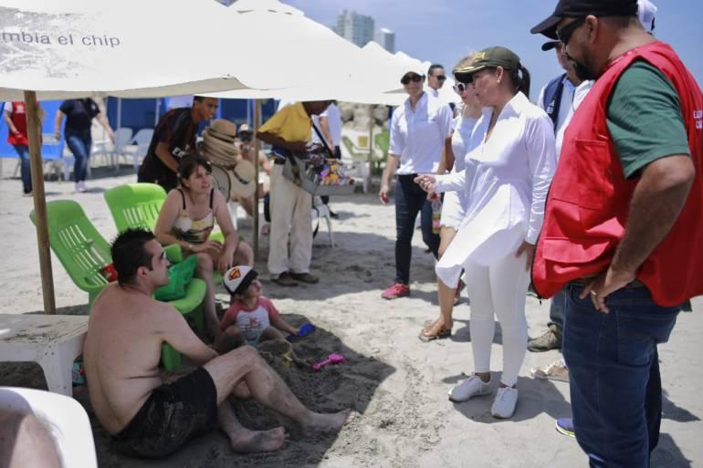 Grupo Élite incrementa controles en las playas de Cartagena: Grupo Élite incrementa controles en las playas de Cartagena