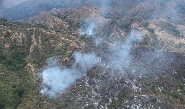 Incendio forestal en el Tolima